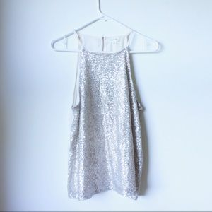 • the Taylor & Sage champagne sparkle tank top